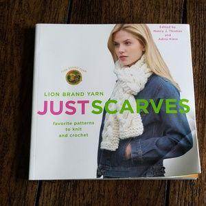 Other - Lion Brand Yarn Just Scarves paperback book
